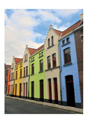 Multicolored Row Houses